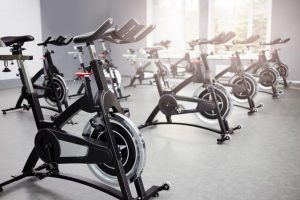 rows of exercise bike