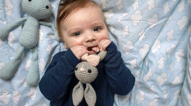 cute baby grinding teeth