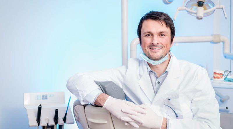 male dentist sitting